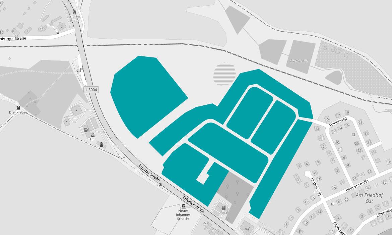 Baugebiet Ilmenau Am Friedhof West Blumenviertel Ilmenau Thüringen Grundstück Ilmenau Bauen Ilmenau OHB Hausbau Grundstück